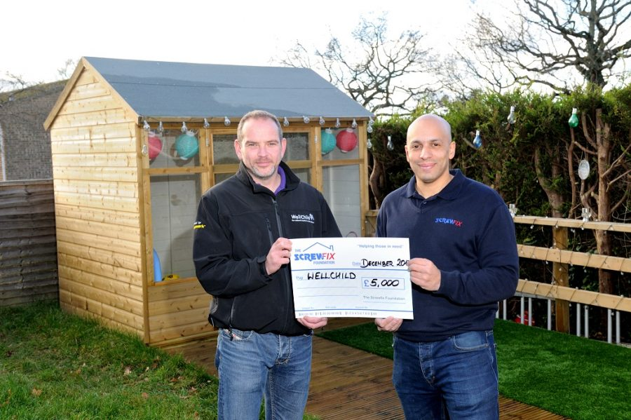 WELLCHILD RECEIVES GENEROUS DONATION FROM THE SCREWFIX FOUNDATION