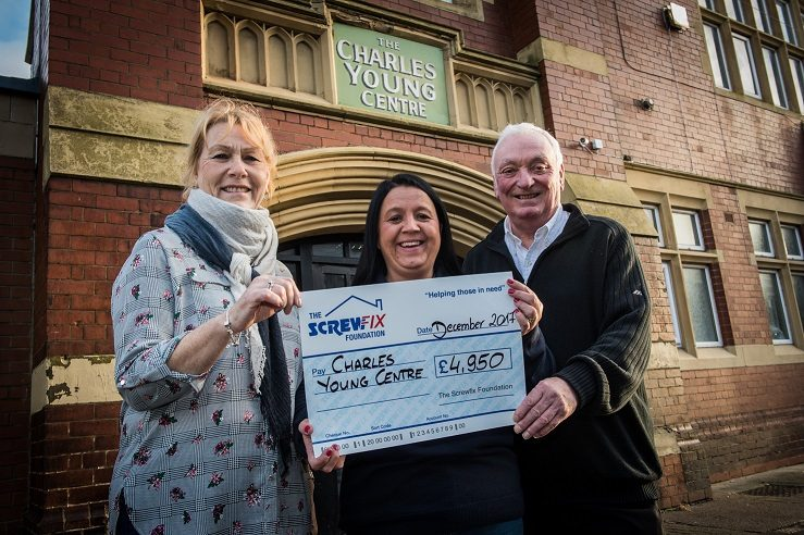 CHARLES YOUNG CENTRE RECEIVES GENEROUS DONATION FROM THE SCREWFIX FOUNDATION