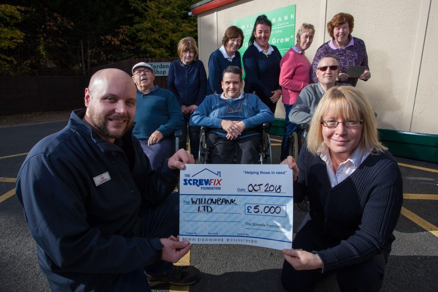 WILLOWBANK GETS A HELPING HAND FROM THE SCREWFIX FOUNDATION