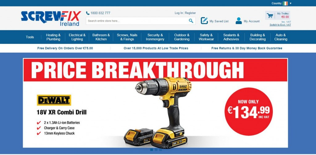 SCREWFIX SETS UP SHOP IN THE REPUBLIC OF IRELAND WITH NEW ...