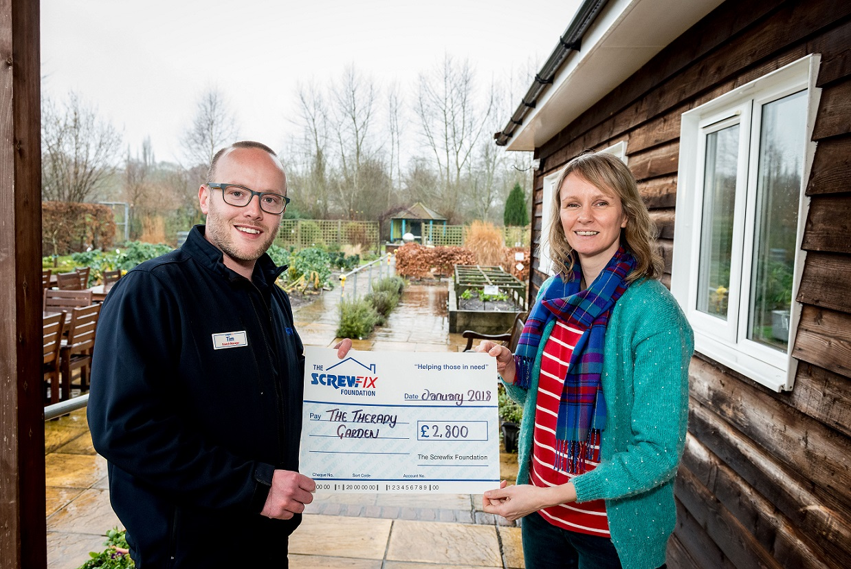 The Therapy Garden, based in Surrey, is celebrating after being awarded £2,800 worth of funding from The Screwfix Foundation, a charity which supports ...